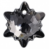 Swarovski Pendant 6748 Edelweiss 14mm Silver Night Crystal